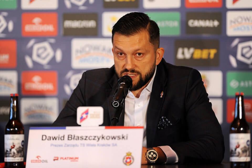 Prezes Wisły Kraków Dawid Błaszczykowski